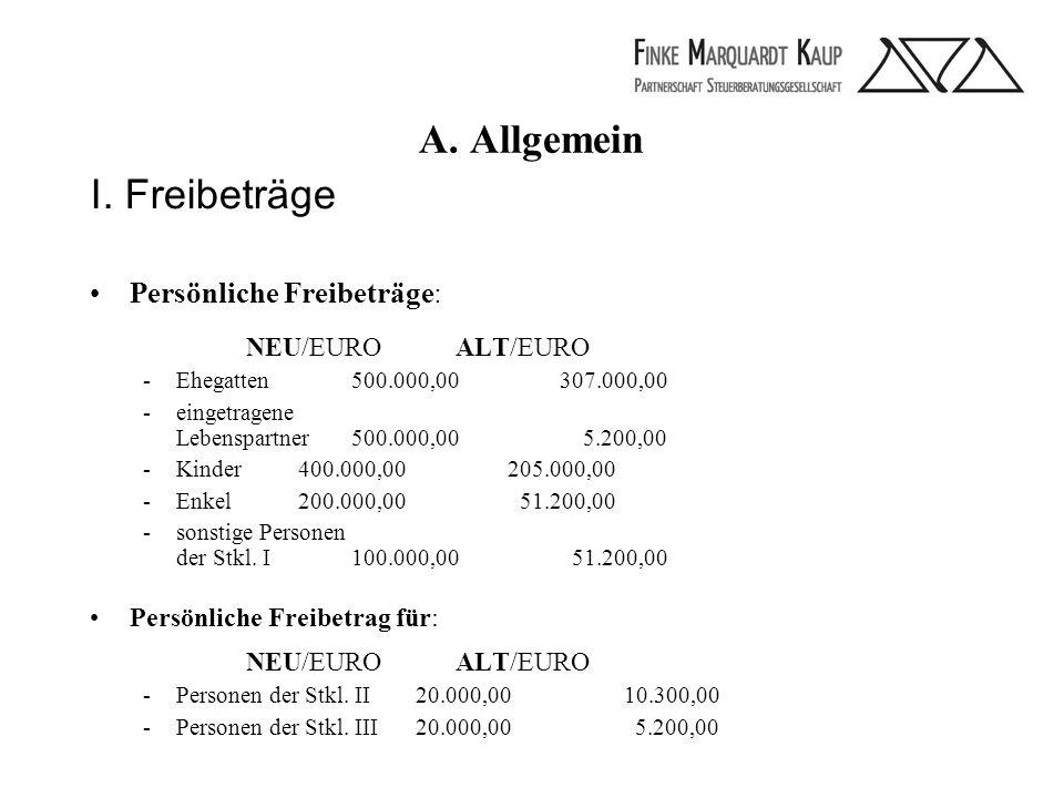 A. Allgemein I.