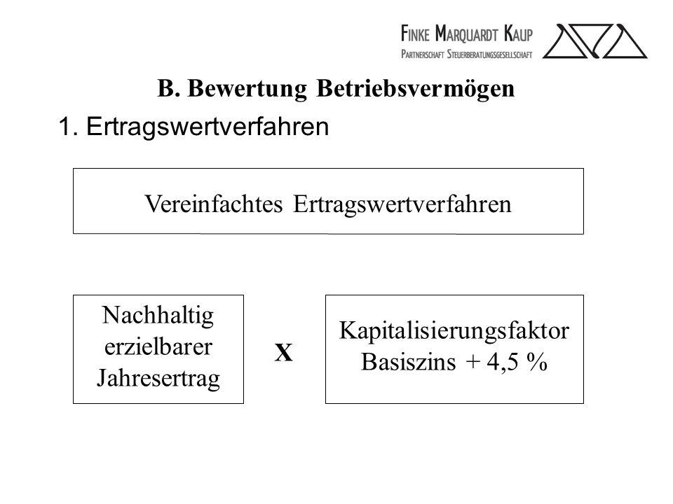 B. Bewertung Betriebsvermögen 1.