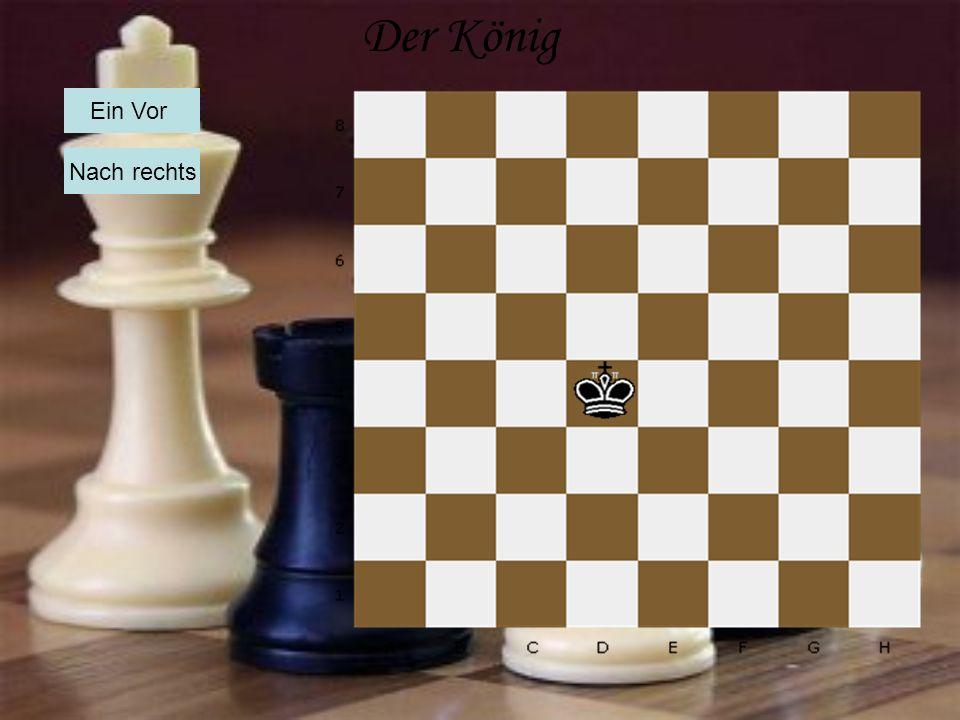 Der König Ein Vor Nach rechts