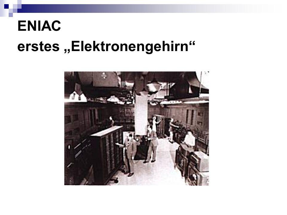 ENIAC erstes Elektronengehirn