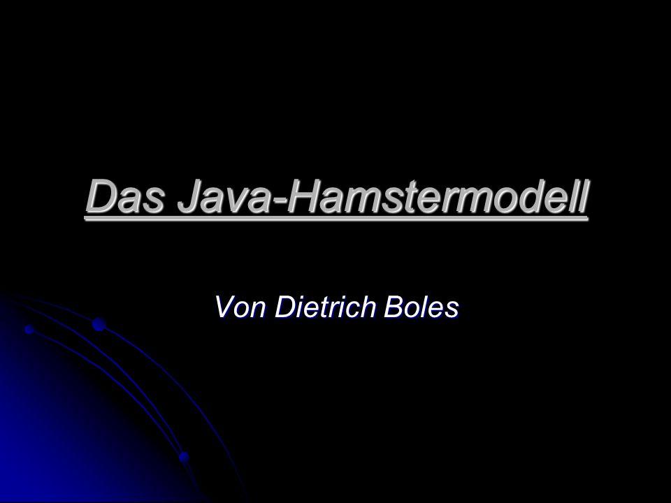 Inhaltsverzeichnis Java allgemein Java allgemein Vorteile von Java Vorteile von Java Umgang mit dem Hamster-Editor Umgang mit dem Hamster-Editor Imperatives Programmieren Imperatives Programmieren Grundbefehle Grundbefehle Unterprogramme Unterprogramme Objektorientiertes Programmieren Objektorientiertes Programmieren Neuer Hamster Neuer Hamster Hamsterklassen Hamsterklassen