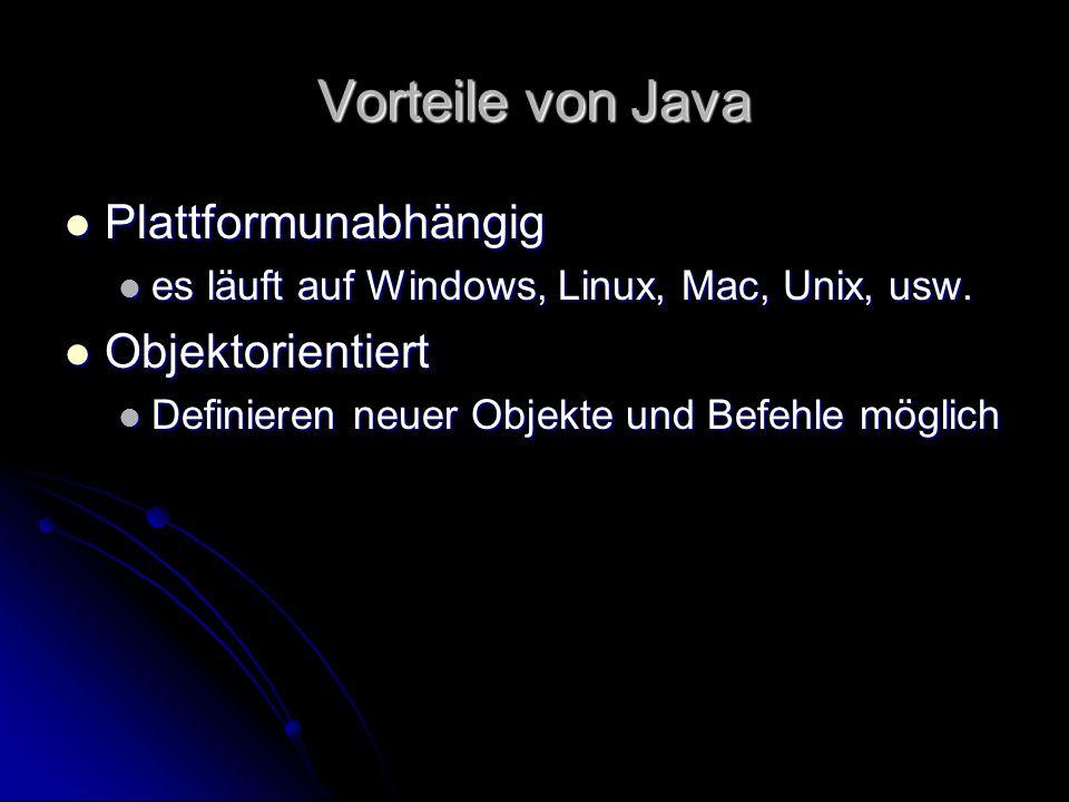Das Java Hamstermodell