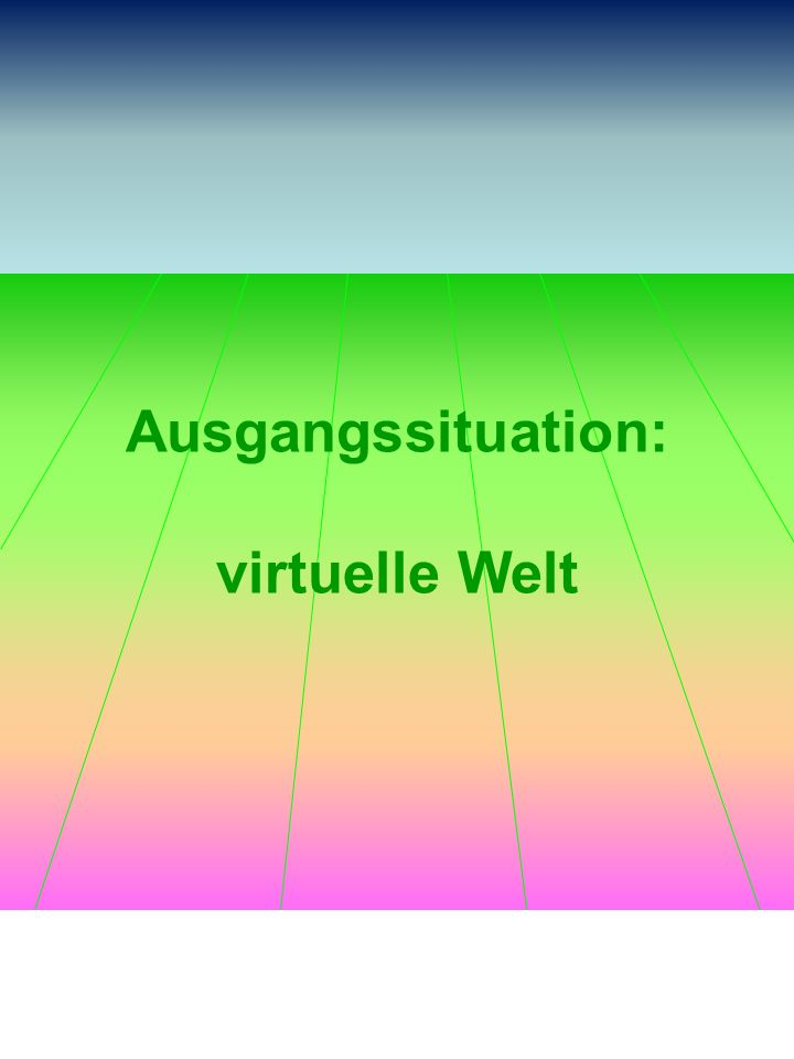 Ausgangssituation: virtuelle Welt