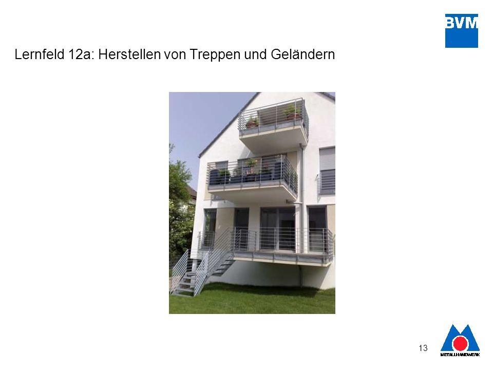13 Lernfeld 12a: Herstellen von Treppen und Geländern