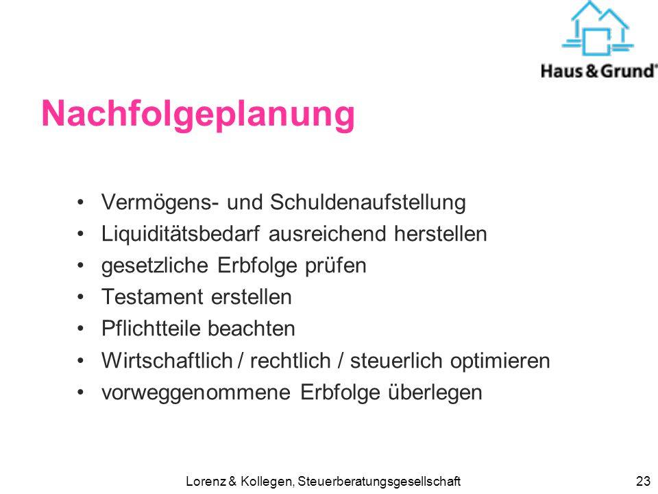 Lorenz & Kollegen, Steuerberatungsgesellschaft22 Erbschaftsteuer abschaffen ? Der Marktwert der HRE wurde diese Woche auf 190 Millionen Euro geschätzt