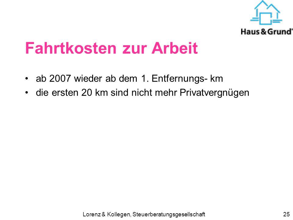 Lorenz & Kollegen, Steuerberatungsgesellschaft24 Handwerkerleistungen (§ 35 a EStG) ab 2009 neben haushaltsnahen Dienstleistungen in Privathaushalten