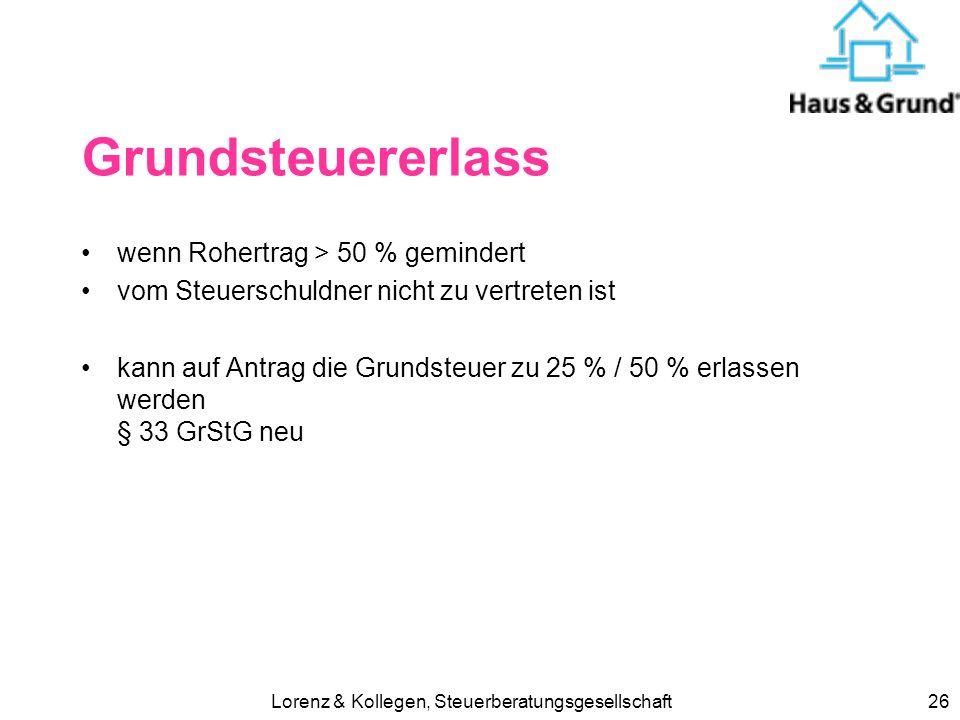 Lorenz & Kollegen, Steuerberatungsgesellschaft25 Fahrtkosten zur Arbeit ab 2007 wieder ab dem 1. Entfernungs- km die ersten 20 km sind nicht mehr Priv