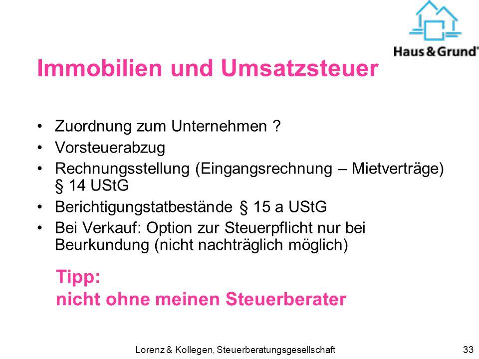 Lorenz & Kollegen, Steuerberatungsgesellschaft32 verbilligte Vermietung an Angehörige > 56 % ortüblichrichtigfalsch Miete 6.000 4.0003.000 Werbungskos