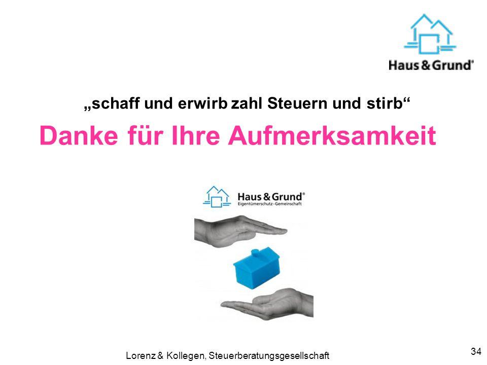 Lorenz & Kollegen, Steuerberatungsgesellschaft33 Immobilien und Umsatzsteuer Zuordnung zum Unternehmen ? Vorsteuerabzug Rechnungsstellung (Eingangsrec