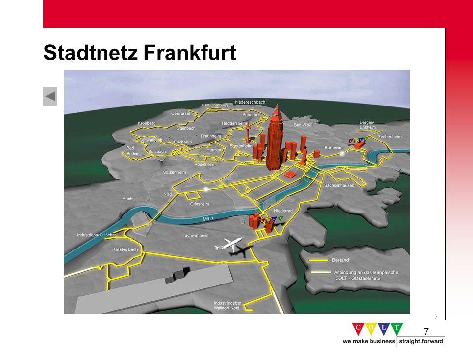 18 Kontinuierlicher Ausbau des Diensteportfolios Anbindung weiterer Städte Erweiterung des Internet-Lösungsgeschäfts Ausbau des Kundenservice-Portals e-COLT (z.B.