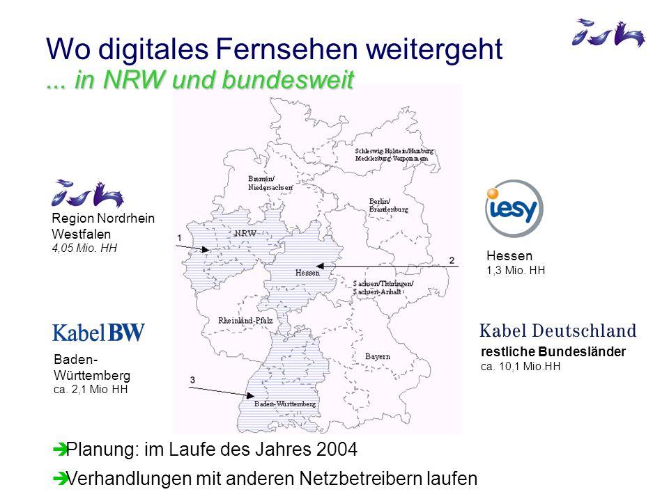 Region Nordrhein Westfalen 4,05 Mio. HH Baden- Württemberg ca.