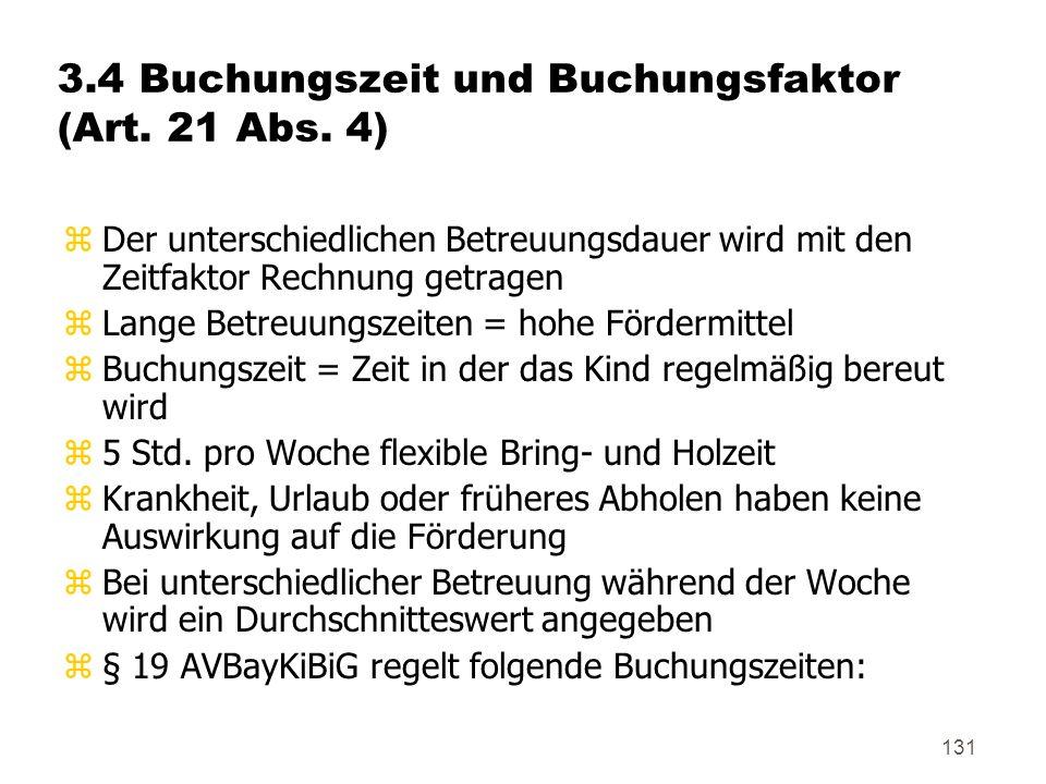 131 3.4 Buchungszeit und Buchungsfaktor (Art.21 Abs.