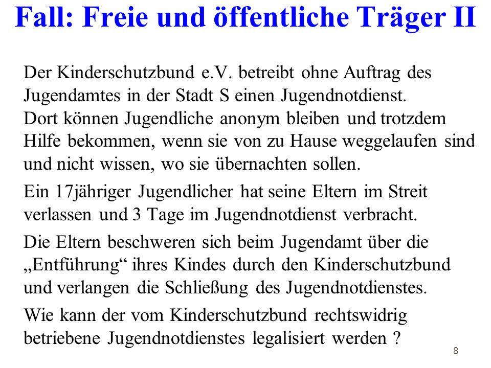 8 Fall: Freie und öffentliche Träger II Der Kinderschutzbund e.V.