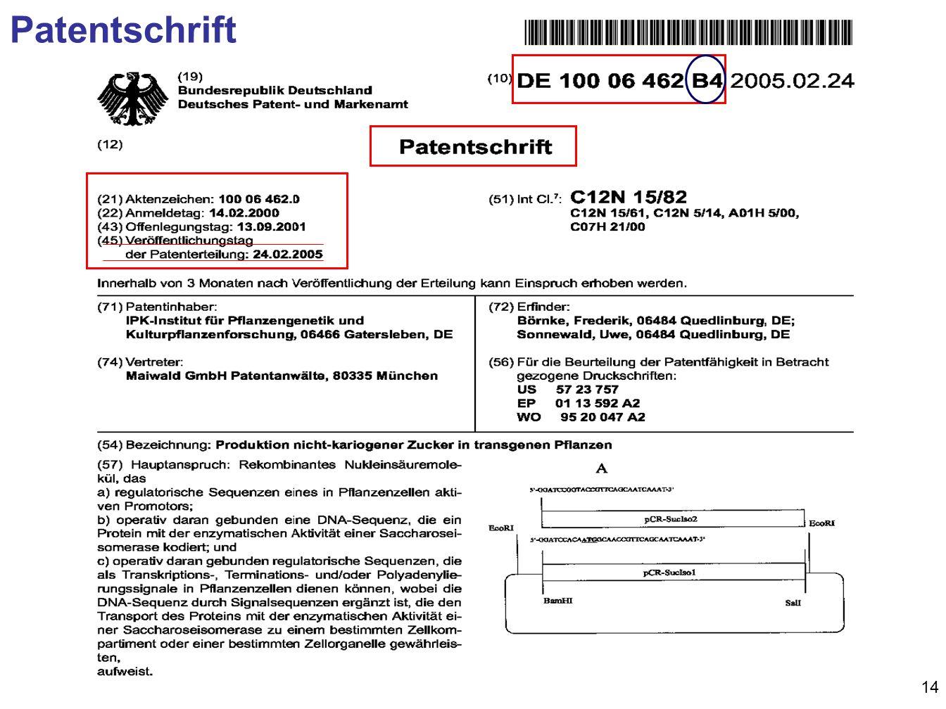 14 Patentschrift