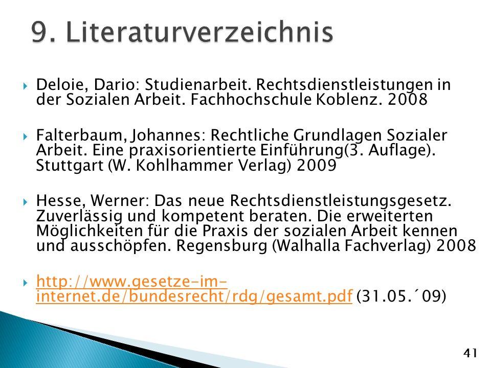 Deloie, Dario: Studienarbeit.Rechtsdienstleistungen in der Sozialen Arbeit.
