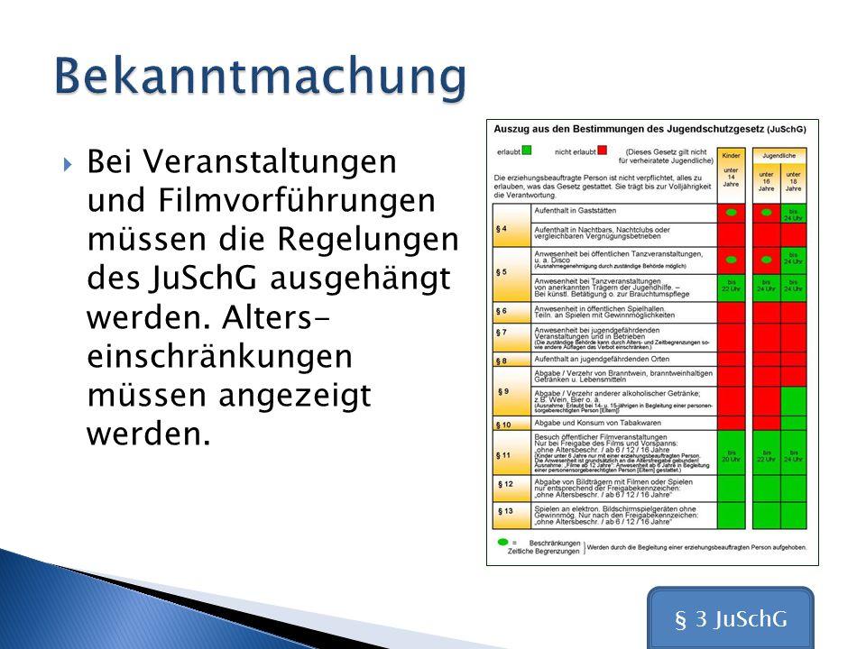 (5) Die Kennzeichnungen von Filmprogrammen für Bildträger und Bildschirmspielgeräte gelten auch für die Vorführung in öffentlichen Filmveranstaltungen und für die dafür bestimmten, inhaltsgleichen Filme.