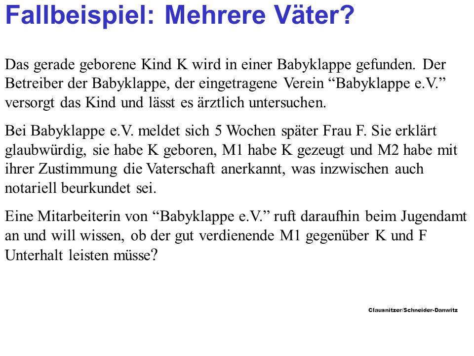 Clausnitzer/Schneider-Danwitz Fallbeispiel: Mehrere Väter.