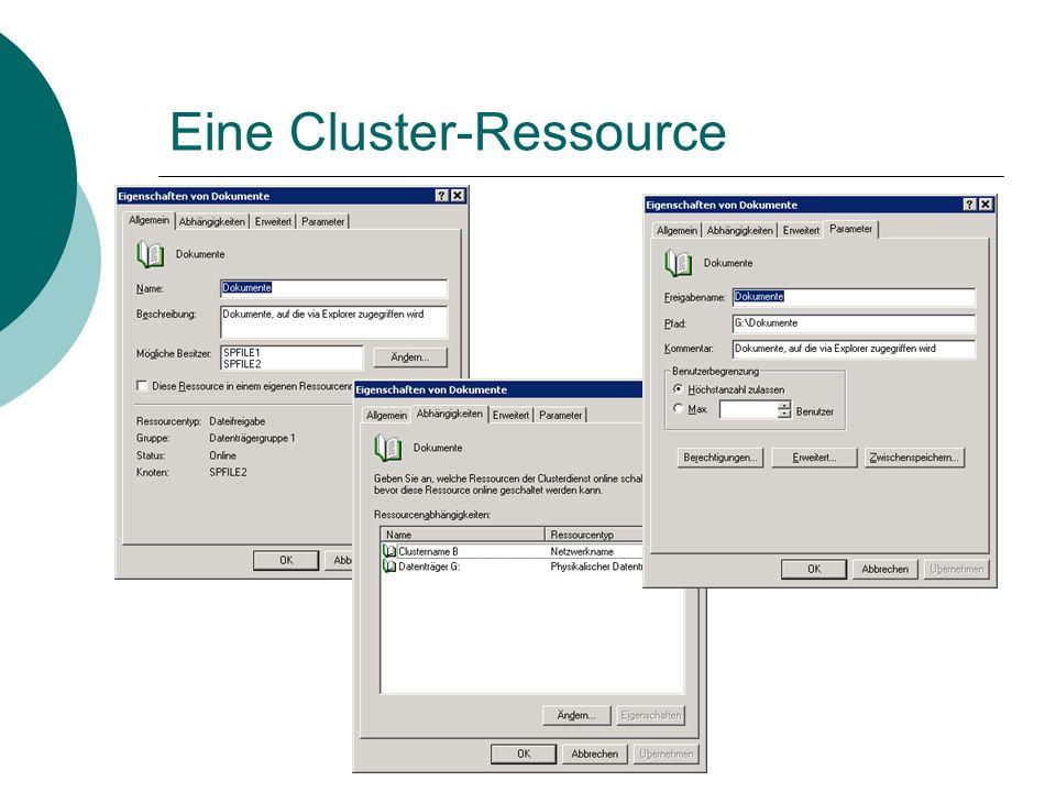 Eine Cluster-Ressource