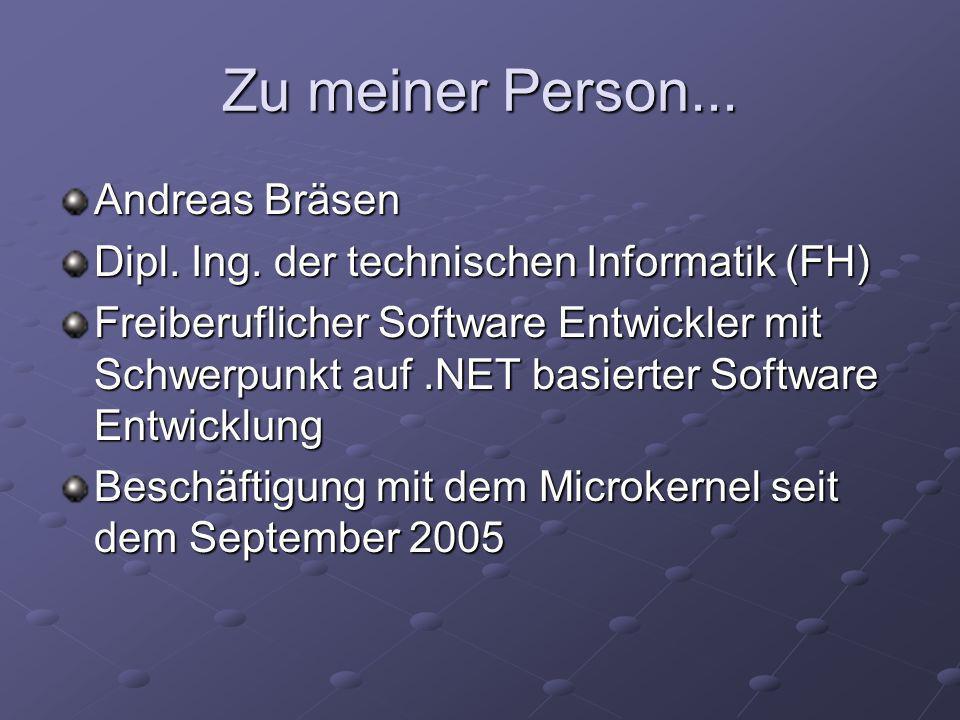 Zu meiner Person... Andreas Bräsen Dipl. Ing.