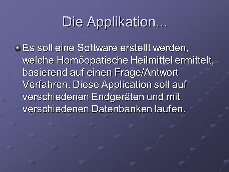 Zur entwickelten Application