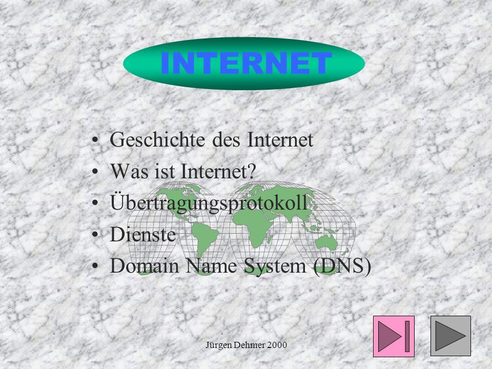 Jürgen Dehmer 200011 Übertragungsprotokoll Beim Durchlaufen jeder Schicht wird das bisherige Datenpaket als Datagramm aufgefasst und mit einem spezifischen Frame-Header versehen.