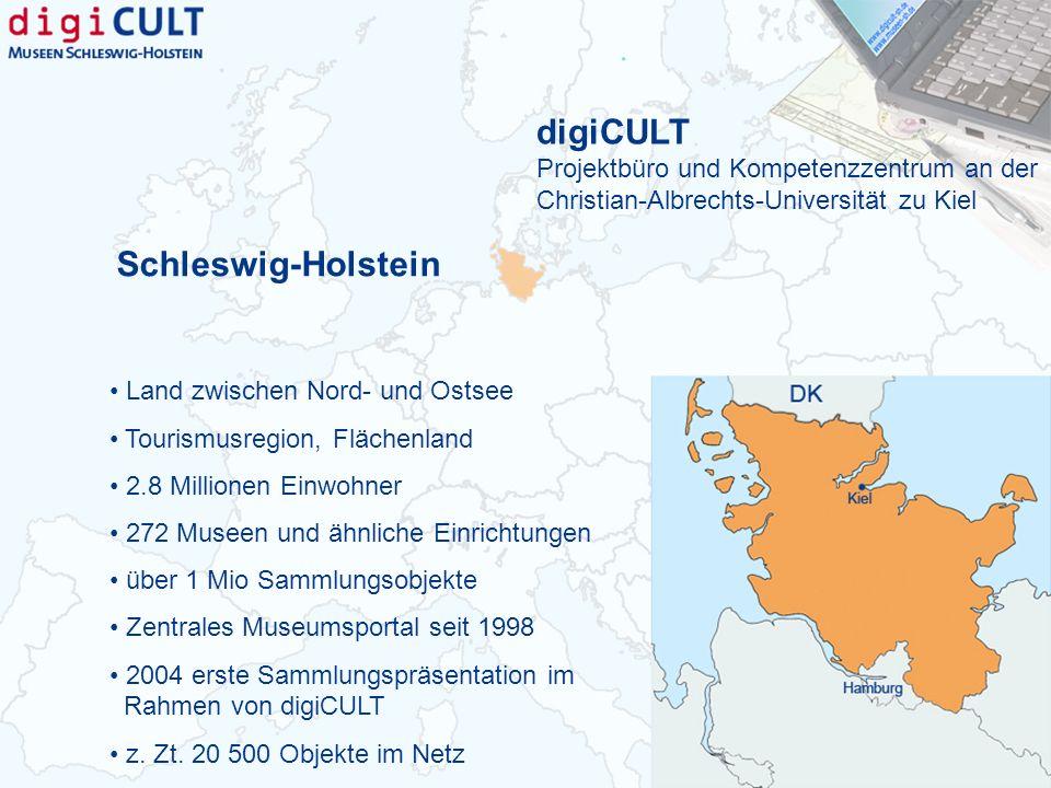 Schleswig-Holstein Land zwischen Nord- und Ostsee Tourismusregion, Flächenland 2.8 Millionen Einwohner 272 Museen und ähnliche Einrichtungen über 1 Mi