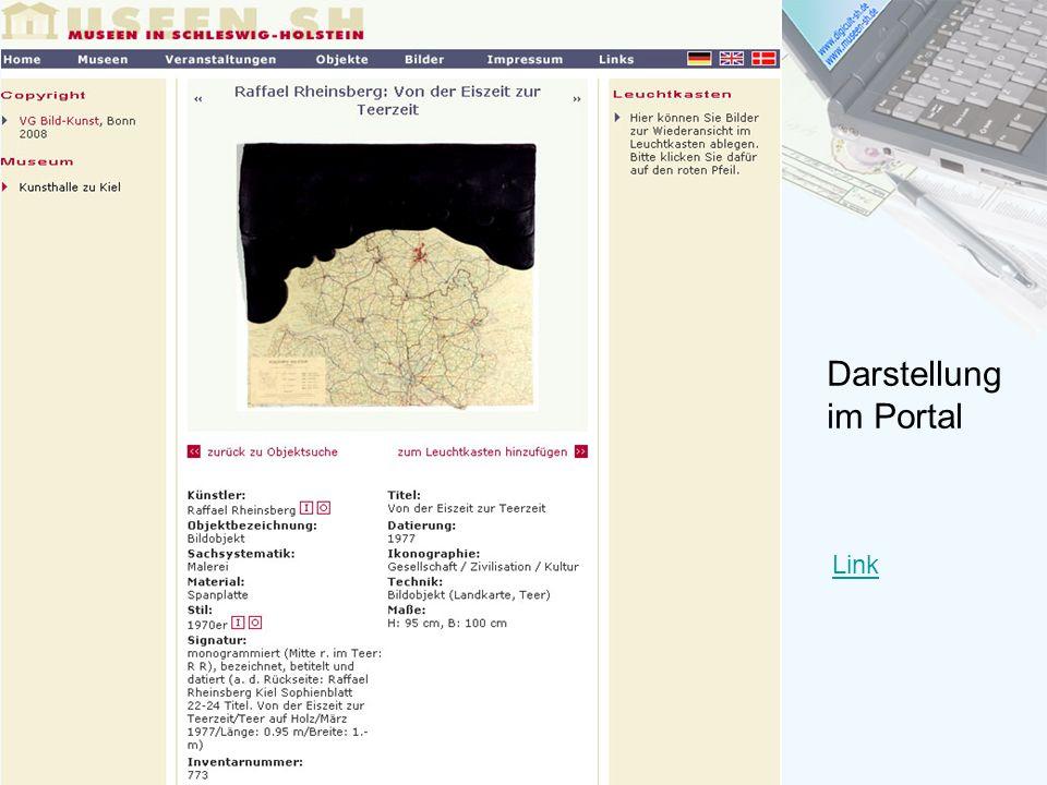 Darstellung im Portal Link