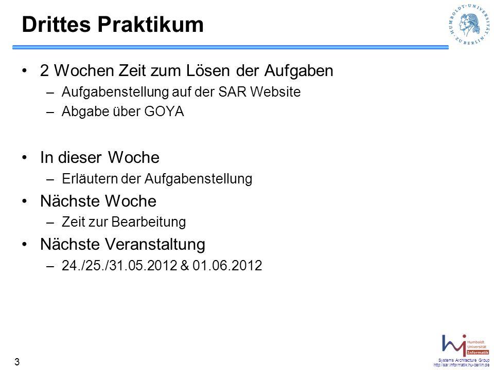Systems Architecture Group http://sar.informatik.hu-berlin.de 34 Non-Blocking write