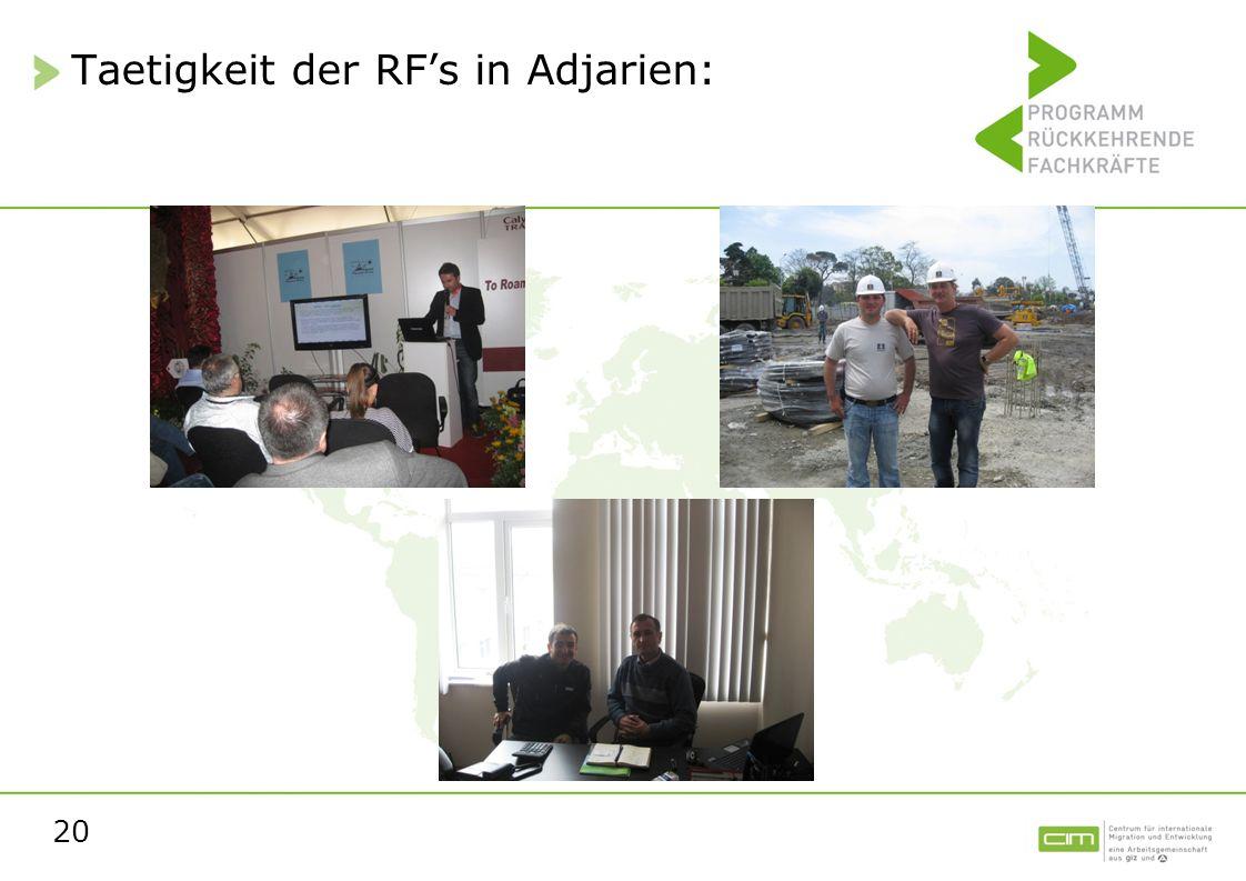 20 Taetigkeit der RFs in Adjarien: