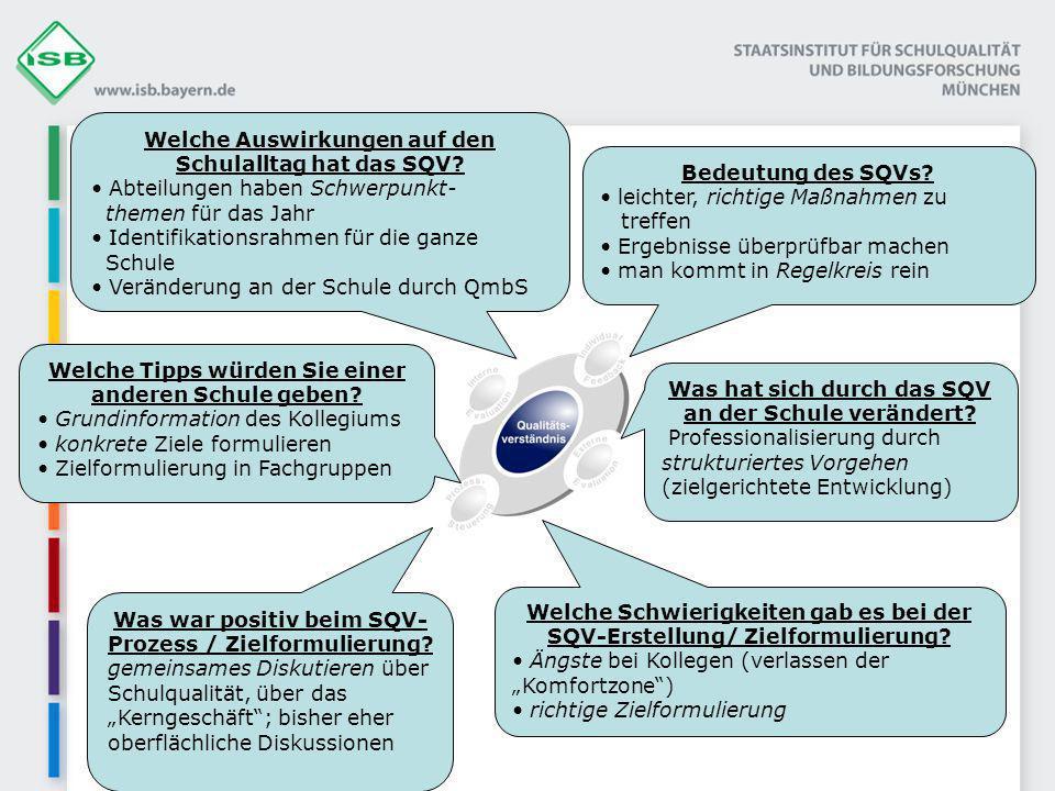 Bedeutung des SQVs.