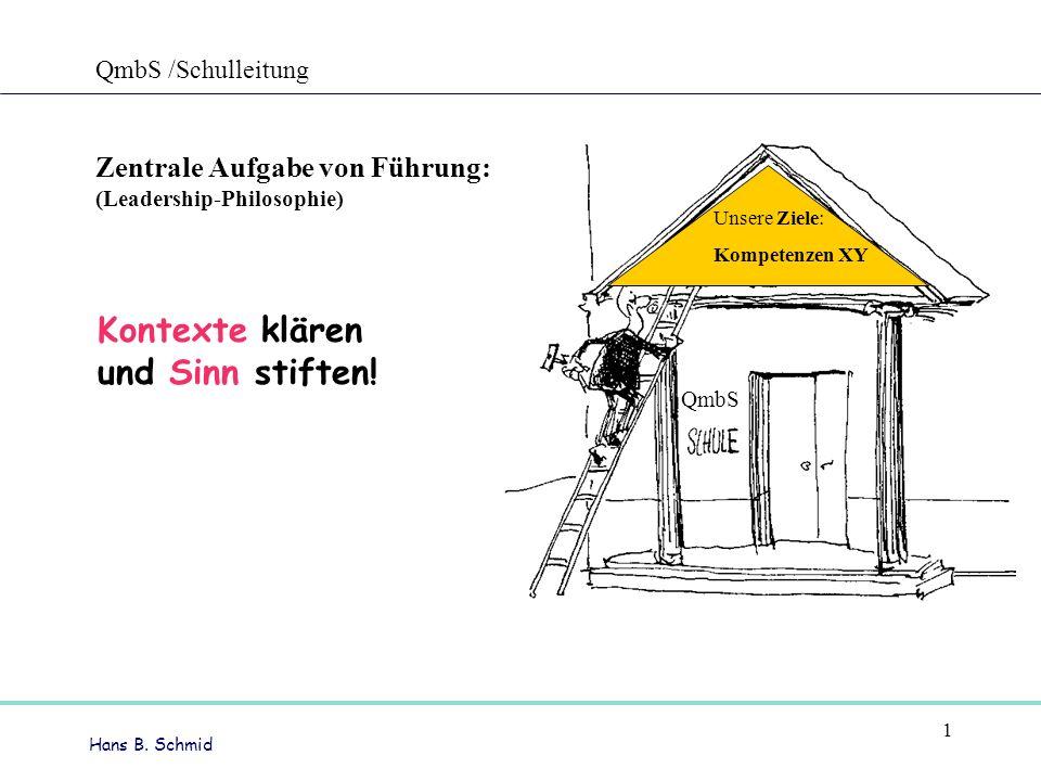 Hans B.Schmid 1 Kontexte klären und Sinn stiften.
