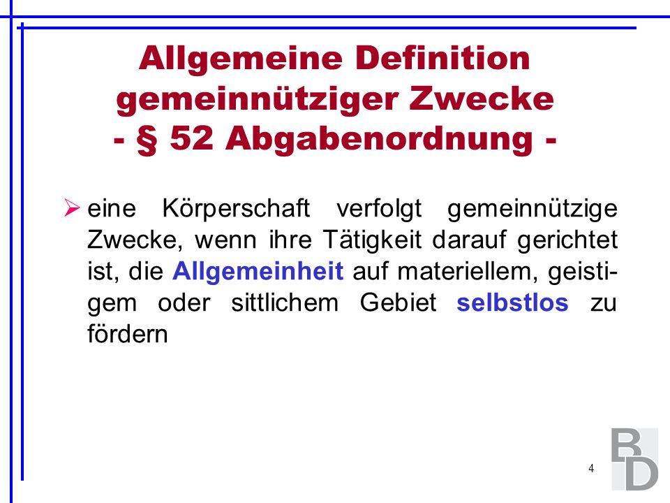 55 Zulässige Rücklagenbildung gem.§ 58 Nr. 6 und 7 AO Fallbeispiel:Gebäudevermietung./.