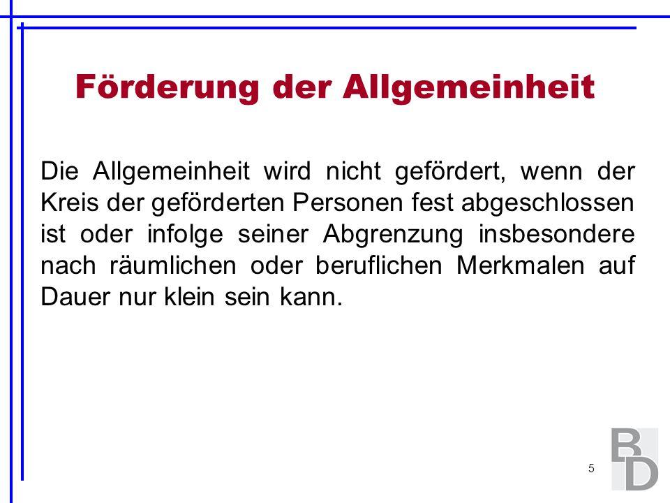 6 Katalog der gemeinnützigen Zwecke gem.§ 52 Abs.