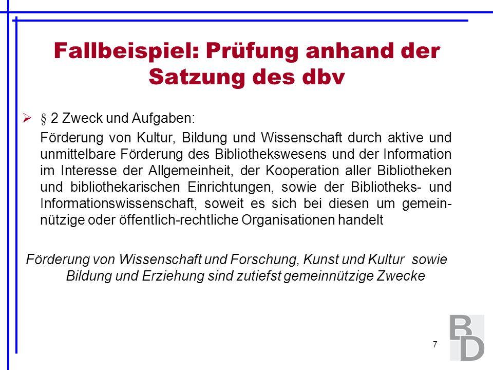 38 Der Förderverein (§ 58 Nr.