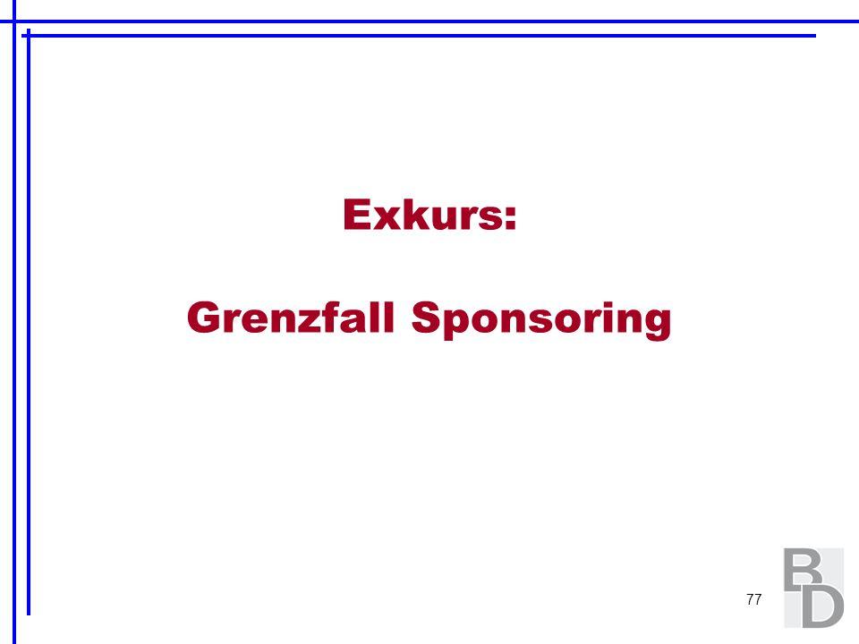 77 Exkurs: Grenzfall Sponsoring