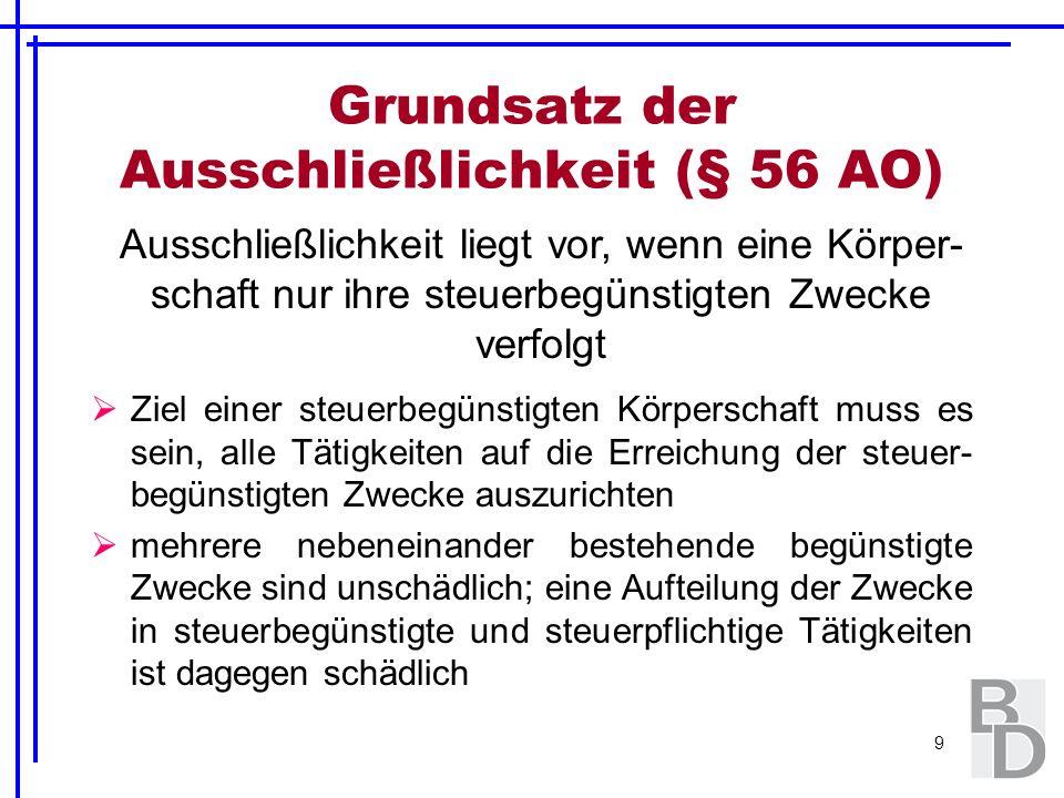 70 Mögliche, gesondert geregelte Umsatzsteuerbefreiungen: § 4 Nr.
