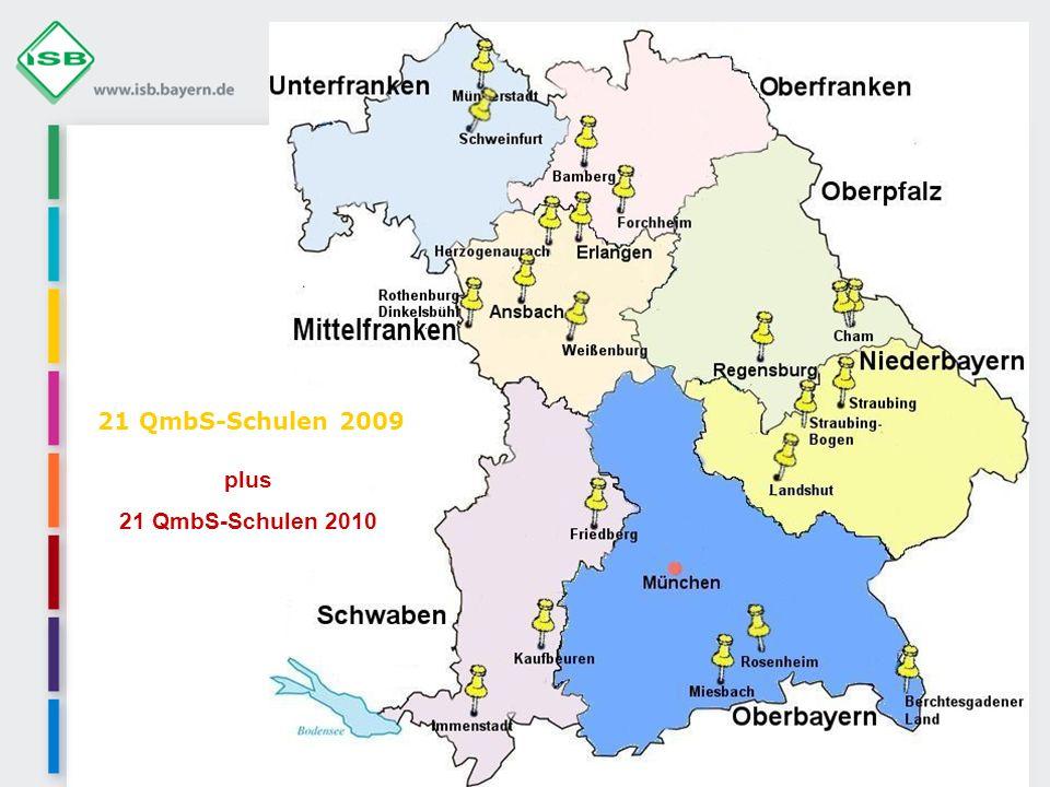 21 QmbS-Schulen 2009 plus 21 QmbS-Schulen 2010