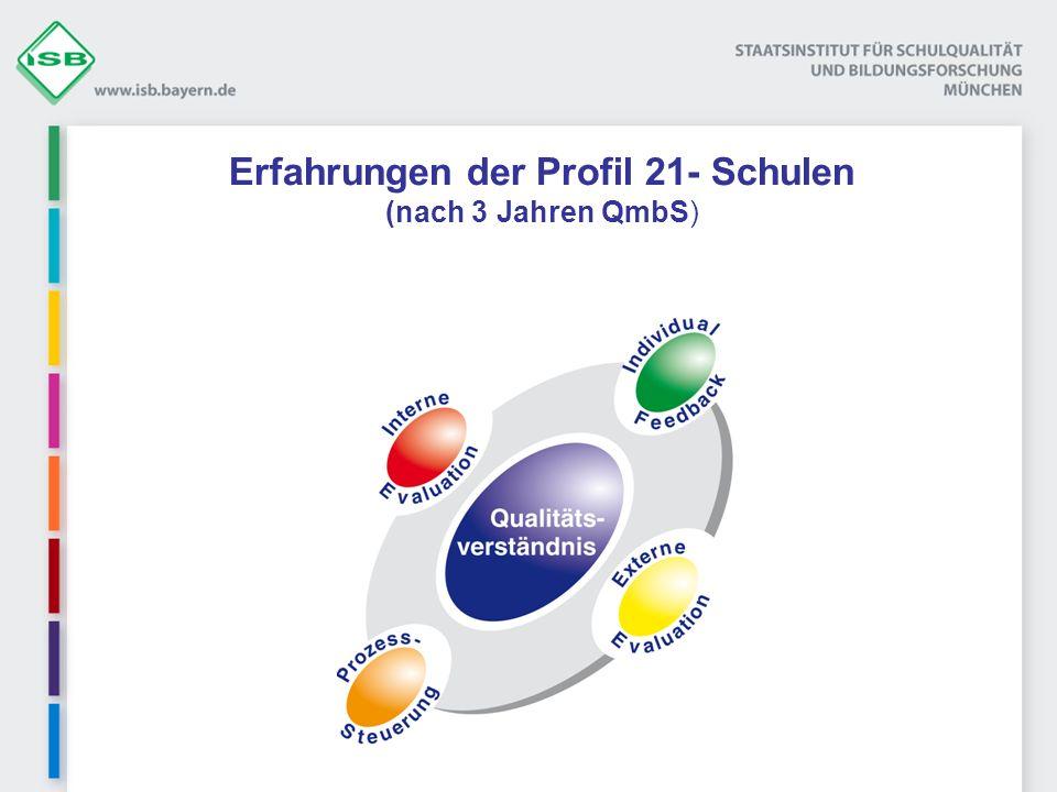 Erfahrungen der Profil 21- Schulen (nach 3 Jahren QmbS)