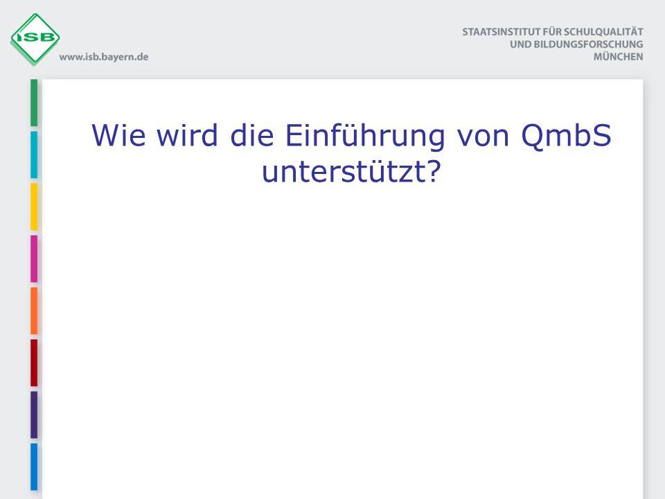 Wie wird die Einführung von QmbS unterstützt?