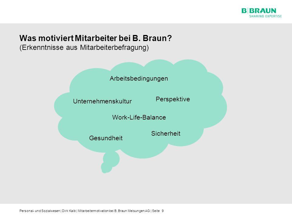 Personal- und Sozialwesen | Dirk Kalb | Mitarbeitermotivation bei B. Braun Melsungen AG | Seite Was motiviert Mitarbeiter bei B. Braun? (Erkenntnisse