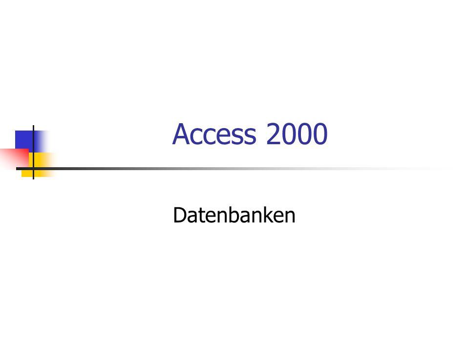 Funktion einer Datenbank werden genutzt um Daten zu verwalten (über Produkte, Lieferanten, Konjunkturdaten usw.) es muss genau geplant werden, welche Dateien zu welchen Zweck benötigt werden Datenbank muss später modifizierbar sein (zusätzliche Daten erfassen und verarbeiten) Bsp.
