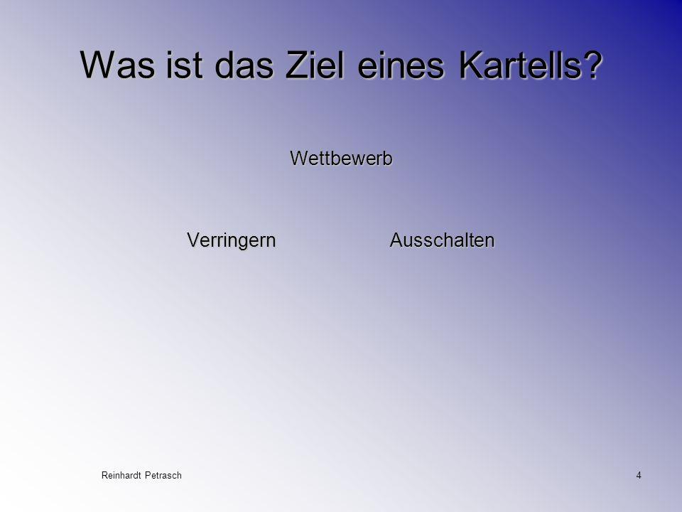 Reinhardt Petrasch4 Was ist das Ziel eines Kartells? Wettbewerb Verringern Ausschalten