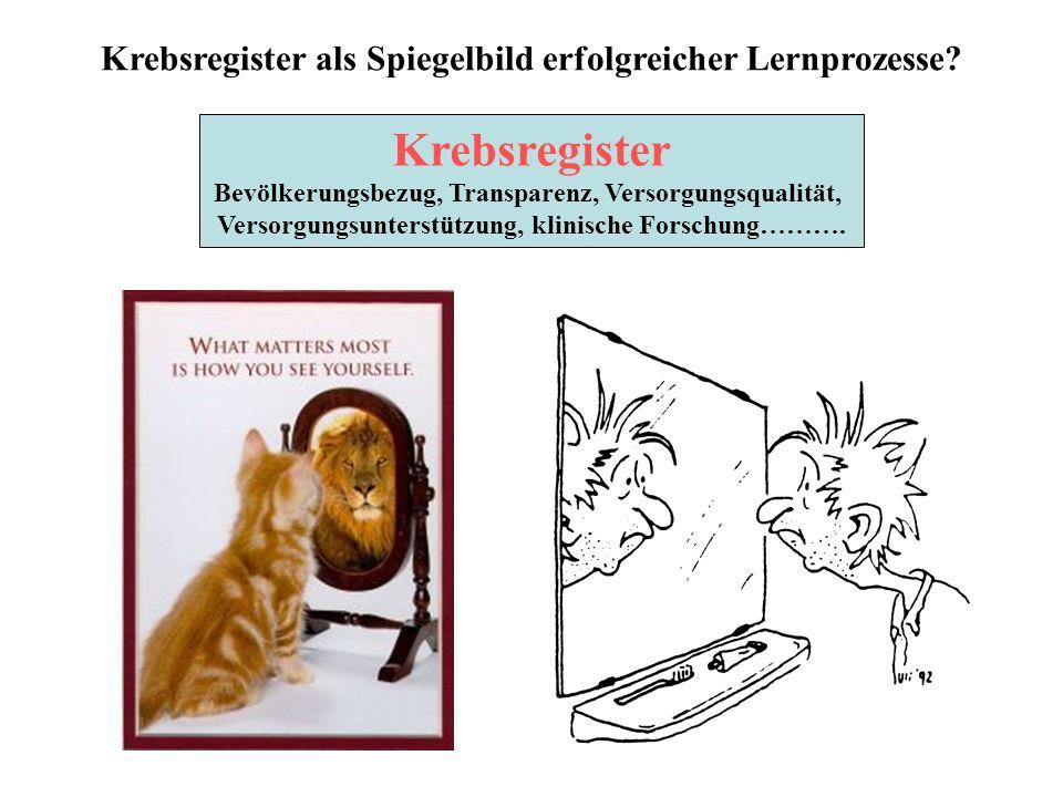 Krebsregister als Spiegelbild erfolgreicher Lernprozesse.
