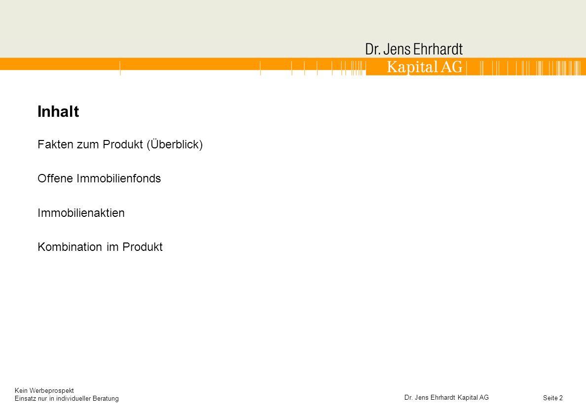 Seite Kein Werbeprospekt Einsatz nur in individueller Beratung 3 Dr.