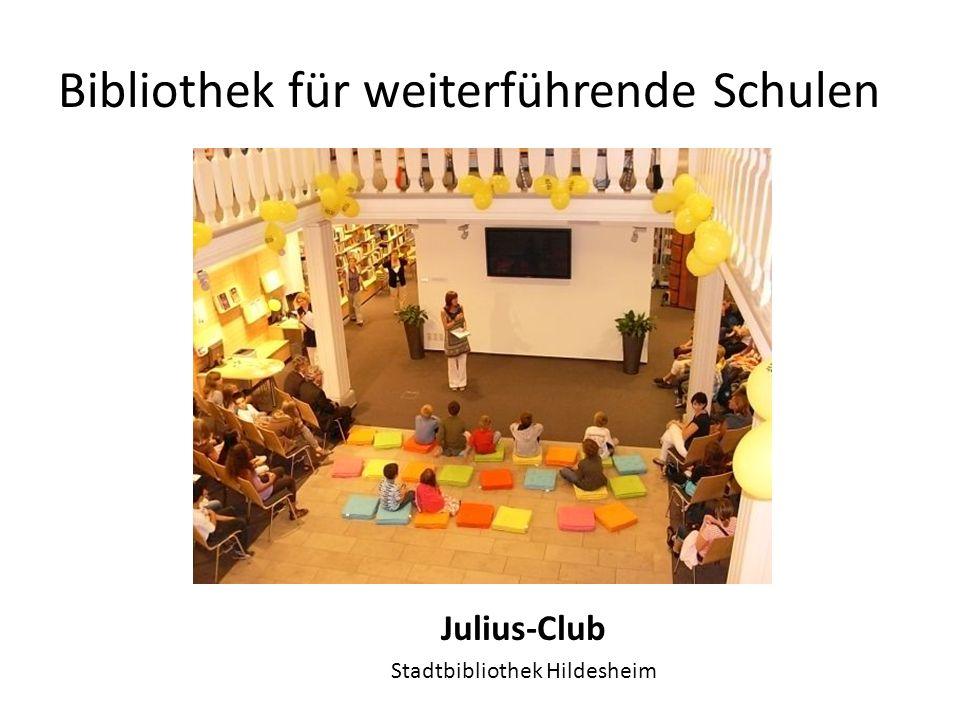 Bibliothek für weiterführende Schulen Julius-AG, Organisation von Veranstaltungen für den Sommerferienleseclub Stadtbibliothek und Schulzentrum Süd Buxtehude