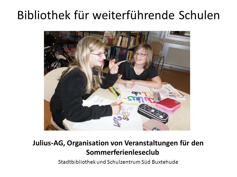 Bibliothek für weiterführende Schulen JungenLeseWerkstatt Stadtbibliothek Göttingen