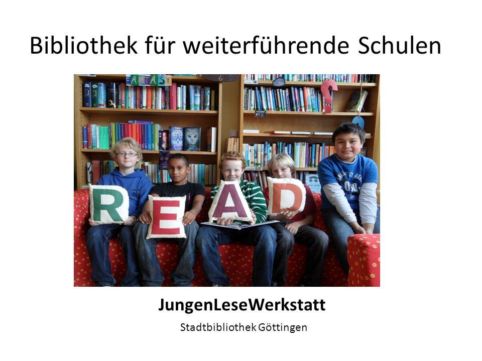 Bibliothek für weiterführende Schulen Schu:Bi, Schule und Bibliothek, Bildungspartner Lese- und Informationskompetenz Oldenburg