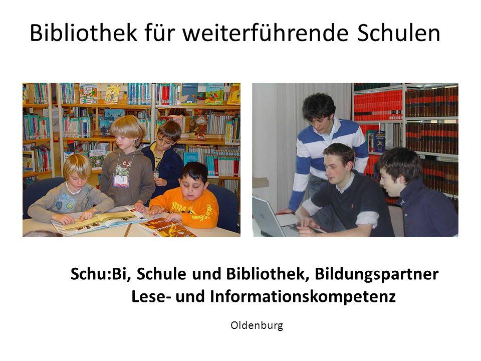 Bibliothek für weiterführende Schulen Unterricht in der Bibliothek Stadtbibliothek Hannover