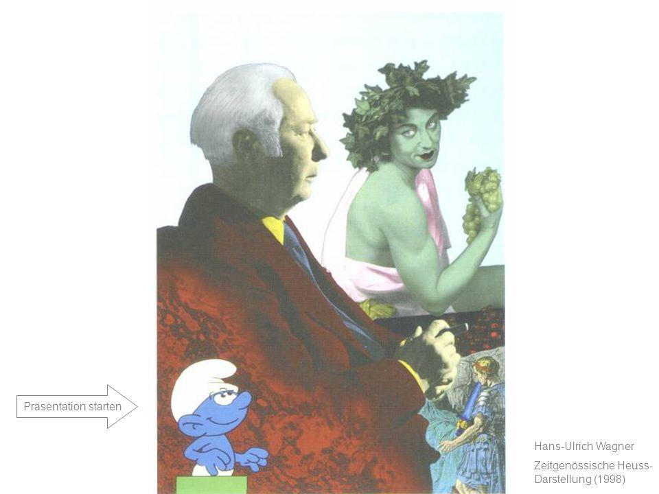 Text Titel Projekt Theodor Heuss – Juli 2004 Hans-Ulrich Wagner Zeitgenössische Heuss- Darstellung (1998) Präsentation starten