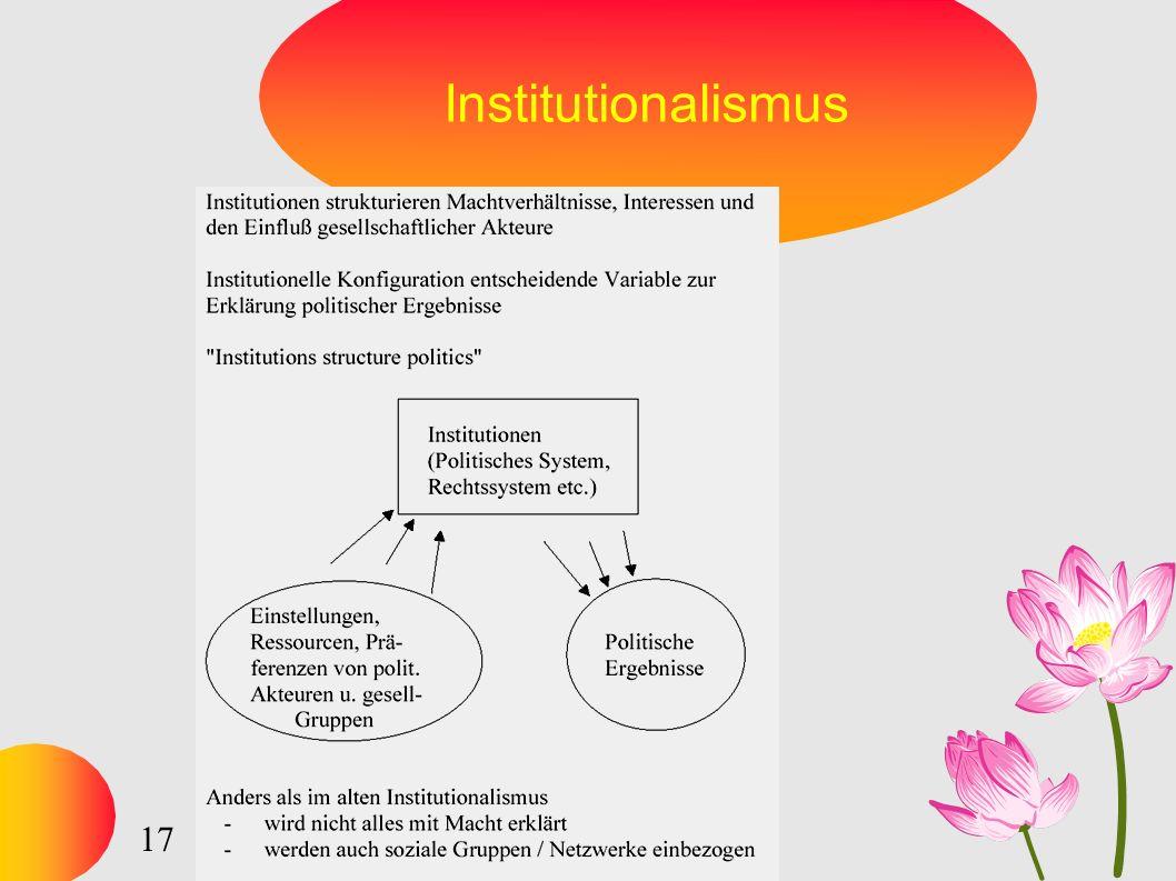 17 Institutionalismus